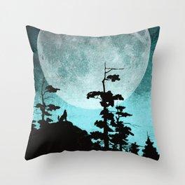 When Night Falls Throw Pillow