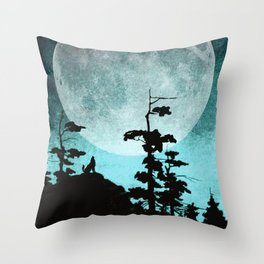 When Night Falls Throw Pillow