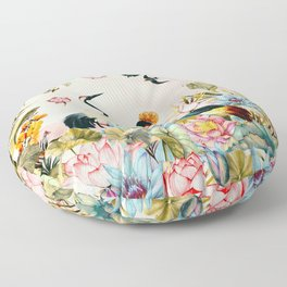 Landscapes of birds in paradise 2 Floor Pillow