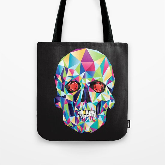 Geometric Candy Skull Tote Bag