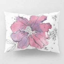 flor morada Pillow Sham
