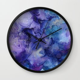 Abstract Watercolor and Ink Wall Clock
