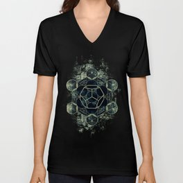 Sacred Geometry for your daily life -  Platonic Solids - ETHER Unisex V-Neck