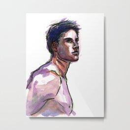 UNTITLED, Semi-Nude Male by Frank-Joseph Metal Print