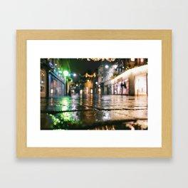 wet brickroad Framed Art Print