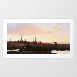 The Moose Hunter Art Print
