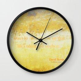 Golden Years Wall Clock