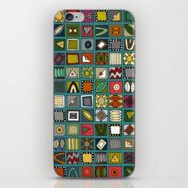 el geo teal iPhone Skin