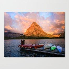 Swiftcurrent Lake. Canvas Print