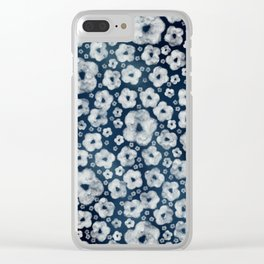Mood indigo ditsy floral Clear iPhone Case