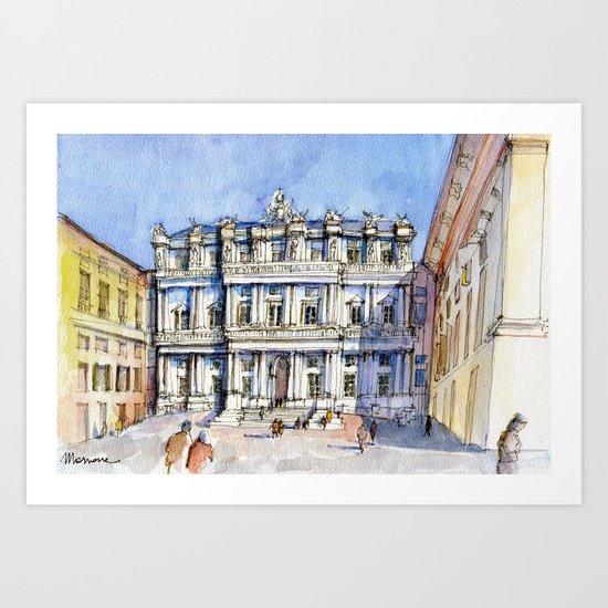 Palazzo ducale a Genova - color version Art Print