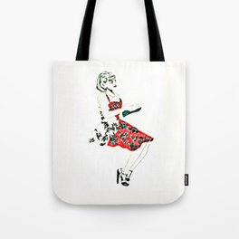 C in red dress Tote Bag