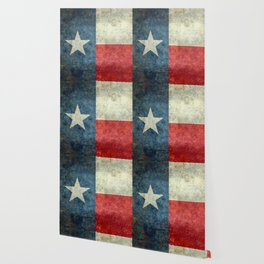 Texas flag, Retro distressed texture Wallpaper