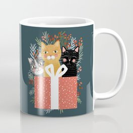 Cats cute christmas xmas tree holiday funny cat art cat lady gift unique pet gifts Coffee Mug