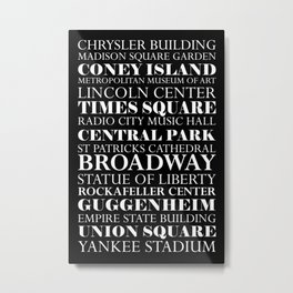 New York City - Landmarks Metal Print