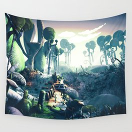 Aldebaran Planet - Path Wall Tapestry