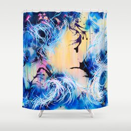 Falling Towards The Sky Shower Curtain