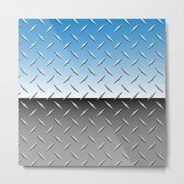 Brilliant Chrome Diamond Plate Metal Background Metal Print