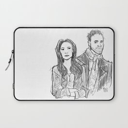 elementary: holmes and watson (sketch) Laptop Sleeve