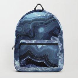 Steely Blue Quartz Crystal Backpack