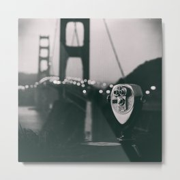Into Focus [Black and White] Metal Print