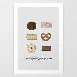 Never Gonna Give You Up Art Print