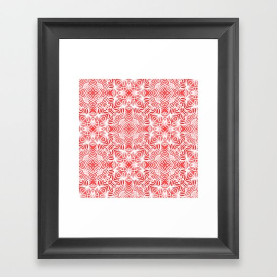 Coral Waves Framed Art Print