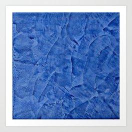 Beautiful Vibrant Light Blue Plaster #society6 #bluedecor #blue | Corbin Henry Art Print