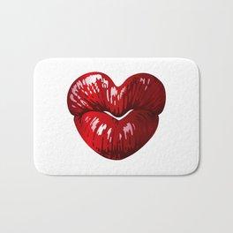 Heart Shaped Lips Bath Mat