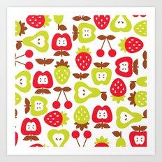 Shabby Chic Fruits Pattern Art Print