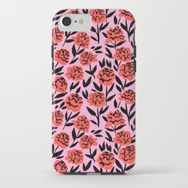 Red Peonies iPhone Case