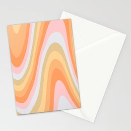 Wavy 70s Art Stationery Cards
