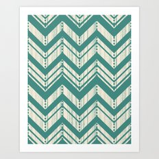 Weathered Chevron Art Print