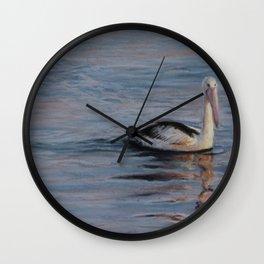Sunrise Pelican Wall Clock