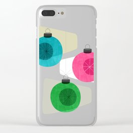 Retro Holiday Baubles Clear iPhone Case