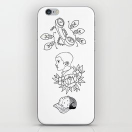 Science Fiction Character Illustration iPhone Skin