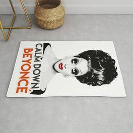 """Calm down Bey!"" Bianca Del Rio, RuPaul's Drag Race Queen Rug"