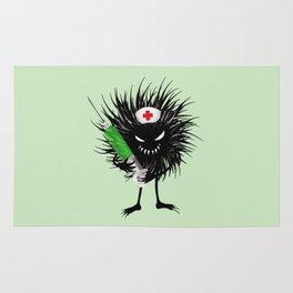 Evil Bug Nurse With Syringe Rug