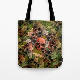 Apple Skull Tote Bag