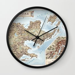 Belthennia - a map of its Independent Territories Wall Clock