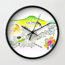 The happiest college in America Wall Clock