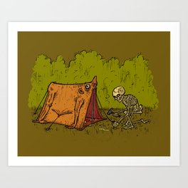 Skin Tent Art Print
