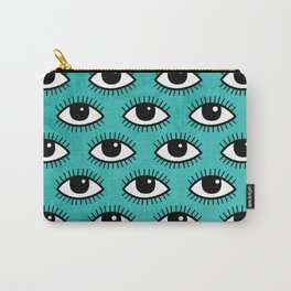 Eyes pattern on blue background Carry-All Pouch