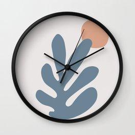 Matisse cutouts abstract drawing Wall Clock