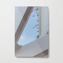 Botanic Florals in White Patterns | Museu de les Ciències Príncipe Felipe | Valencia Spain | Travel photography print | Architecture Photo art Metal Print