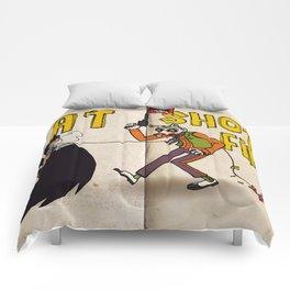 BAT SHOT FIRST Comforters