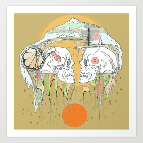 hollow earth Art Print