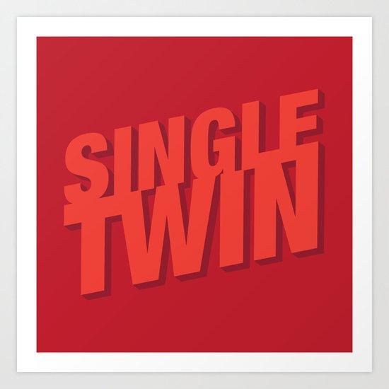 Single Twin Art Print