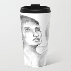 Crowded Silence  Metal Travel Mug