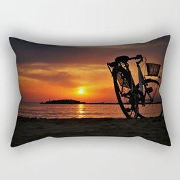 Beach Bike Rectangular Pillow
